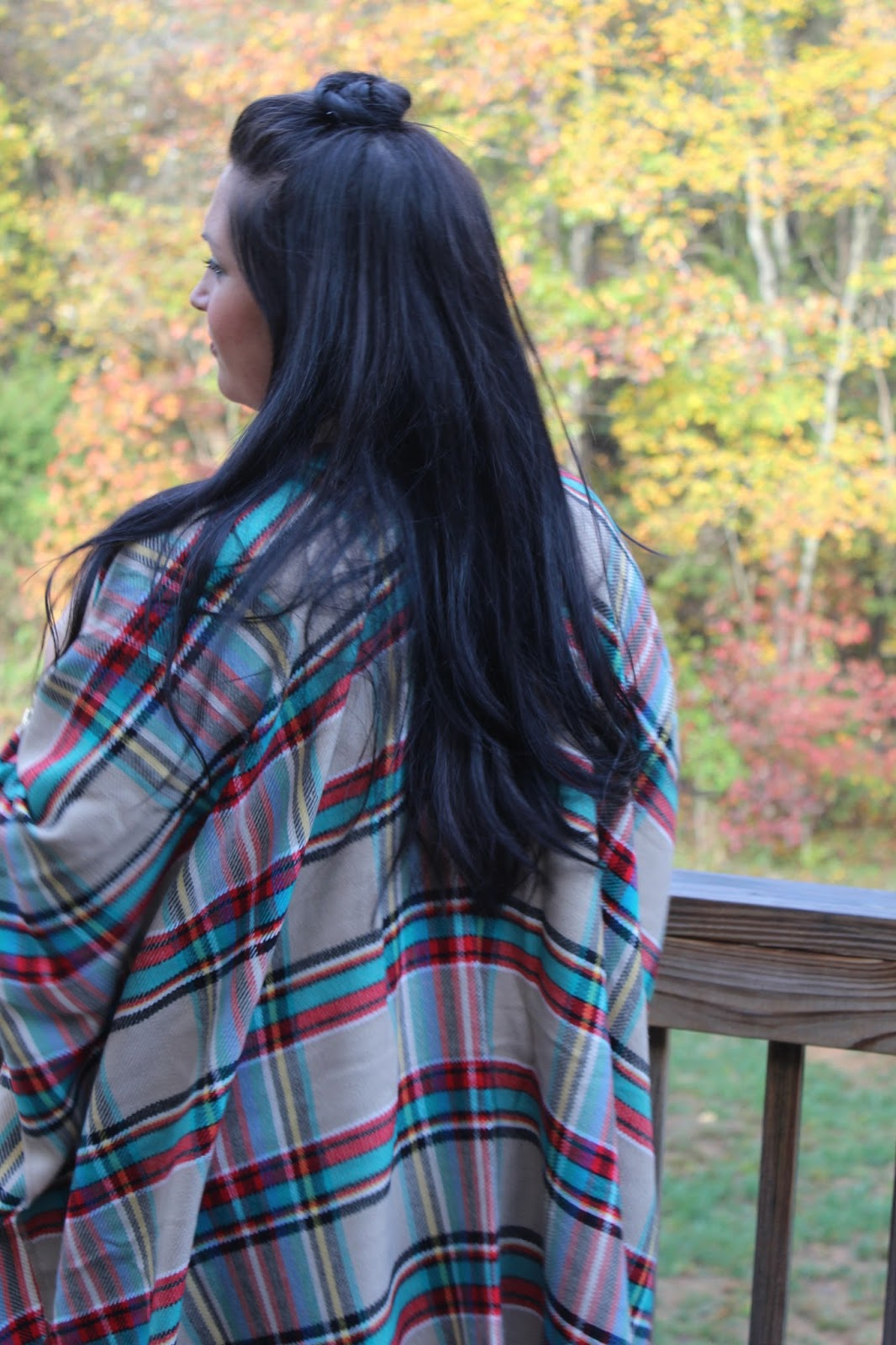 Plaid Poncho, Booties