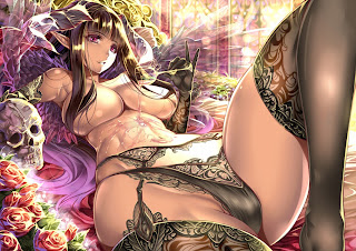 Sexy Girl Elf Lingerie Cleavage Ecchi Anime HD Wallpaper Desktop PC Background 1625