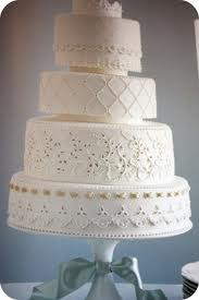 Martha Stewart Eyelet Wedding Cake