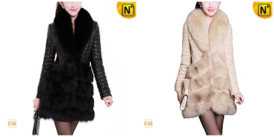 Women Elegant Sheepskin Coat