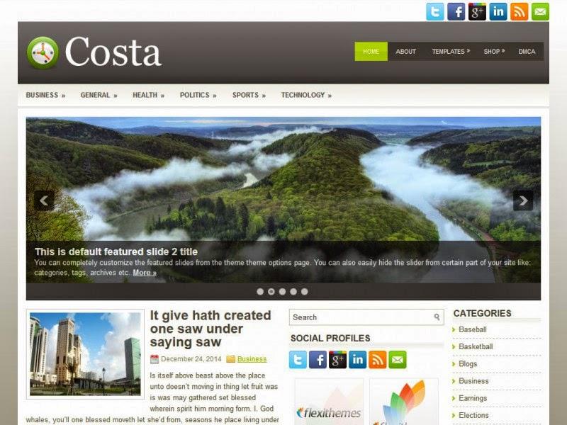 Costa - Free Wordpress Theme