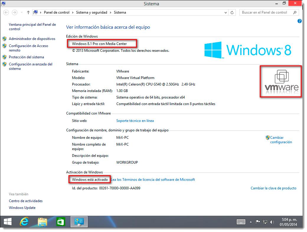 clave de windows 8.1 pro con media center