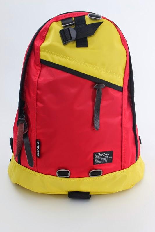 2015 全新K-Zone (kzone bag) 防水絹撞色背囊背包 3