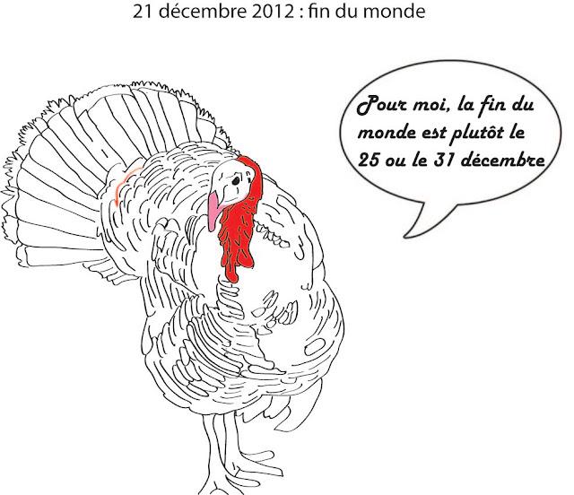 La fin du monde, c'est à chaque 25 décembre pour les dindes