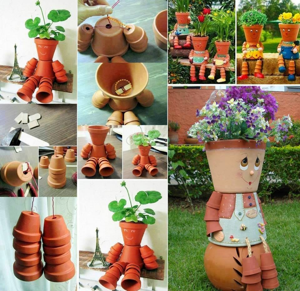 How To Make Clay Pot Flower People Creative Ideas
