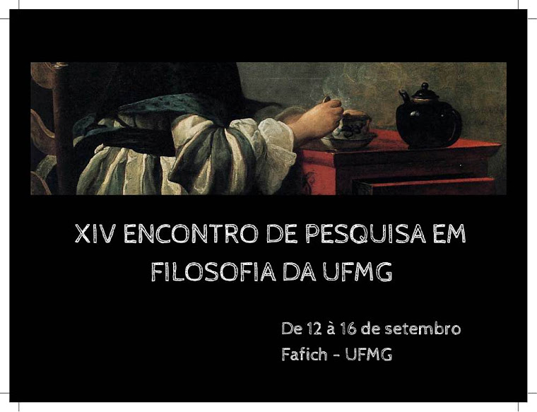 Encontro Nacional de Pesquisa em Filosofia da UFMG