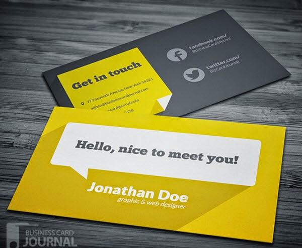 Flat Design Business Card Template