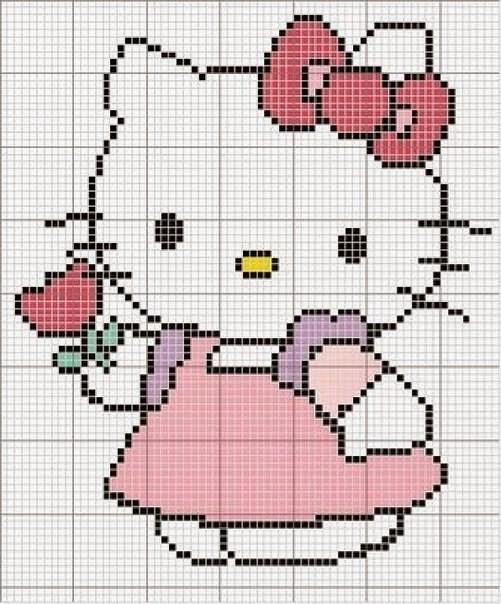 Hello Kitty Örgü Şemaları