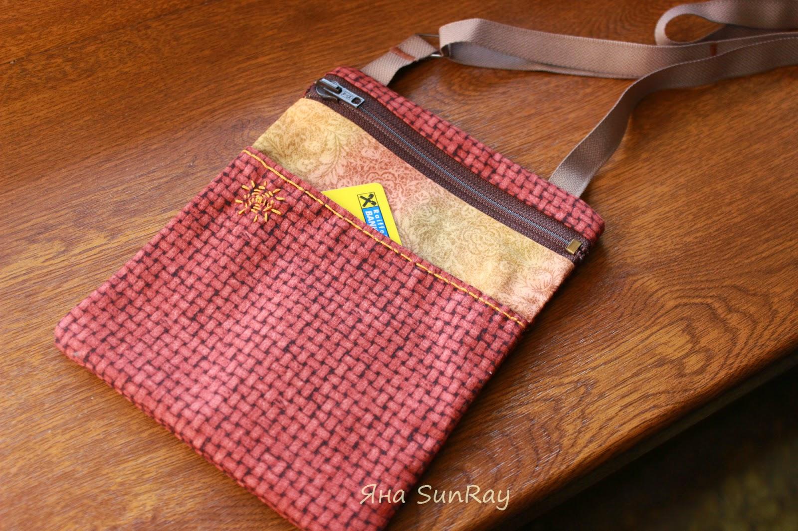 сумочка, косметичка, кенгуру, маленькая сумочка на шею, сумка для документов, сумка для денег, настроение своими руками, Яна SunRay