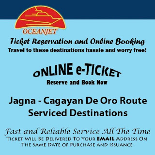 OceanJet Bohol (Jagna)-Cagayan De Oro Route Ticket Reservation and Online Booking