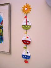 """Sail Away"" crochet decoration"