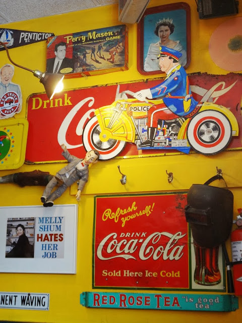 Wall decor in Sophie's Cosmic Cafe, Vancouver