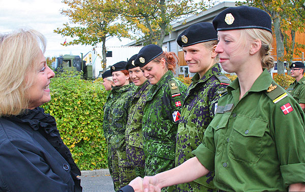 Danish combat female soldiers are manly