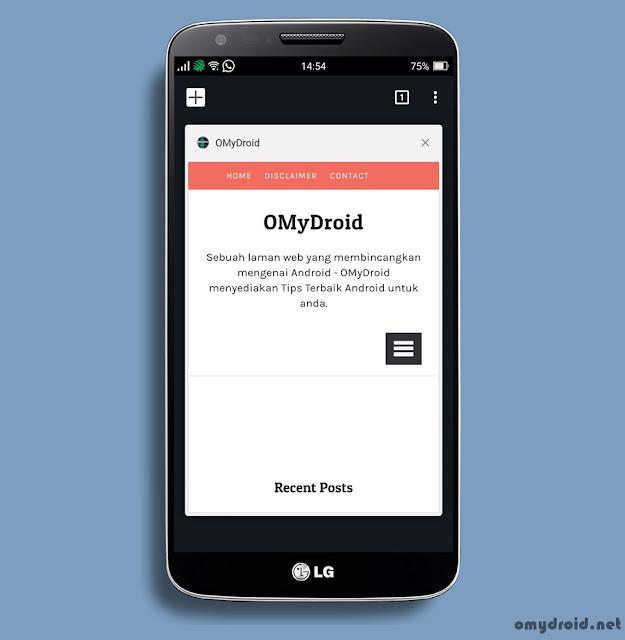Cara Kembalikan Tab Chrome Android