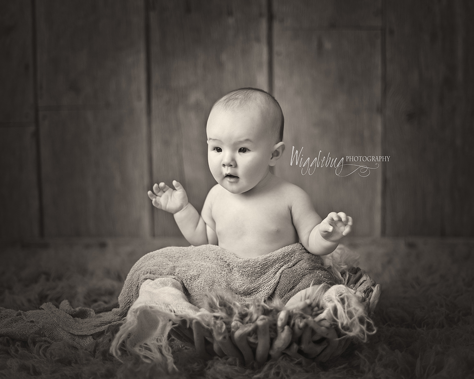 6 month old baby plan session, Milestone professional photos for babies
