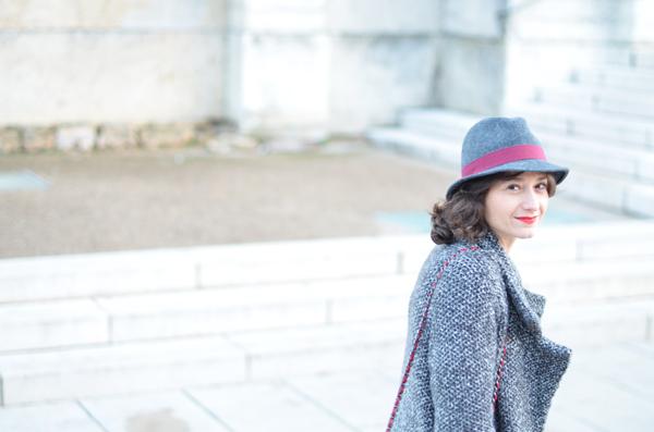 chapeau gris monoprix