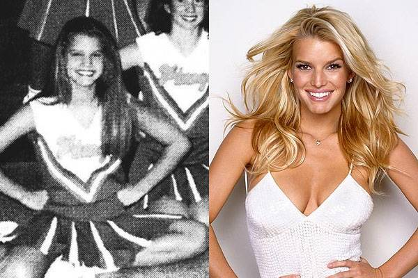 Jessica Simpson — No, I'm not just counting all the Dallas Cowboys games she attended while dating Tony Romo. Jessica Simpson was an actual cheerleader back in high school.