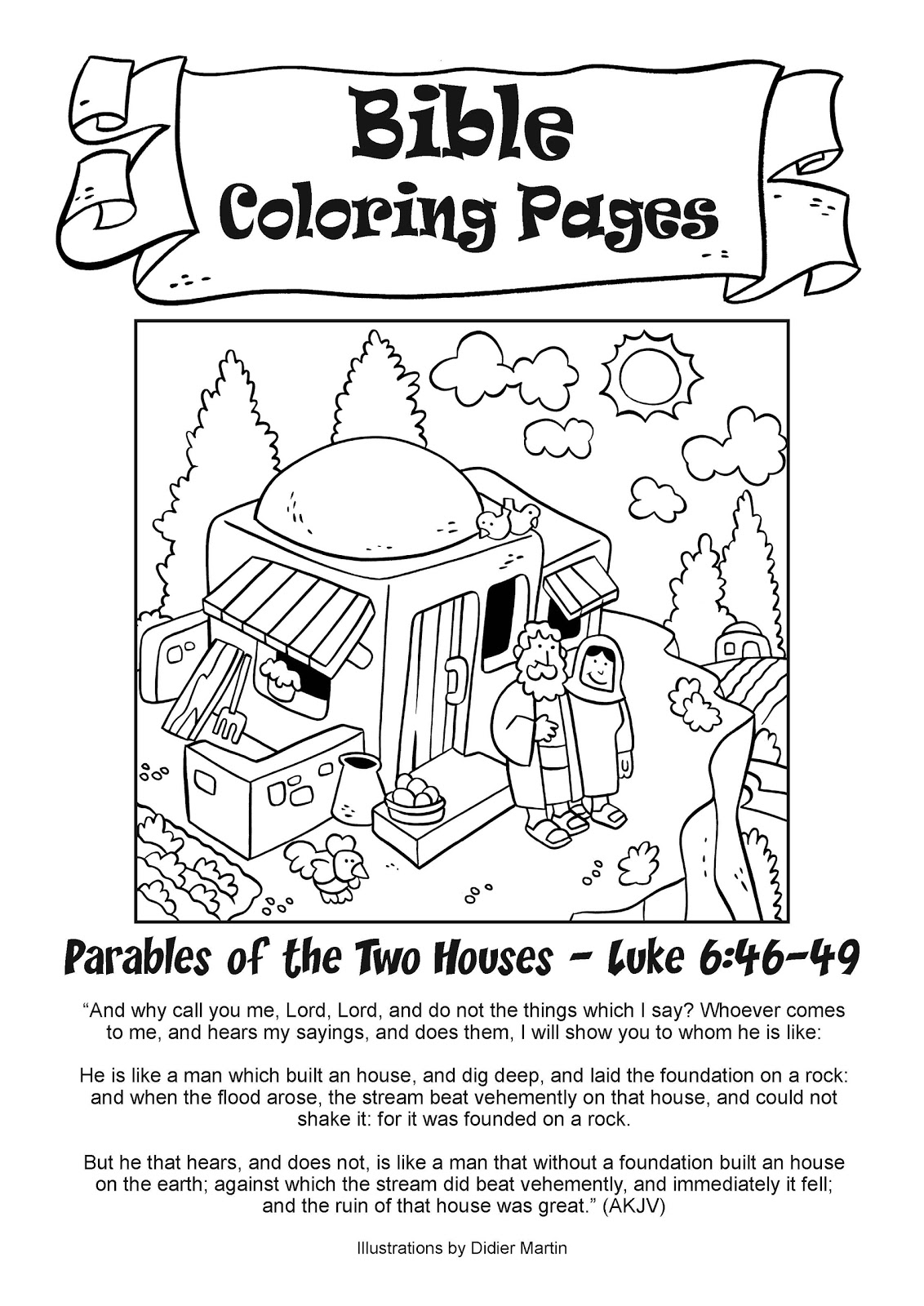 Coloring Pages Of Houses