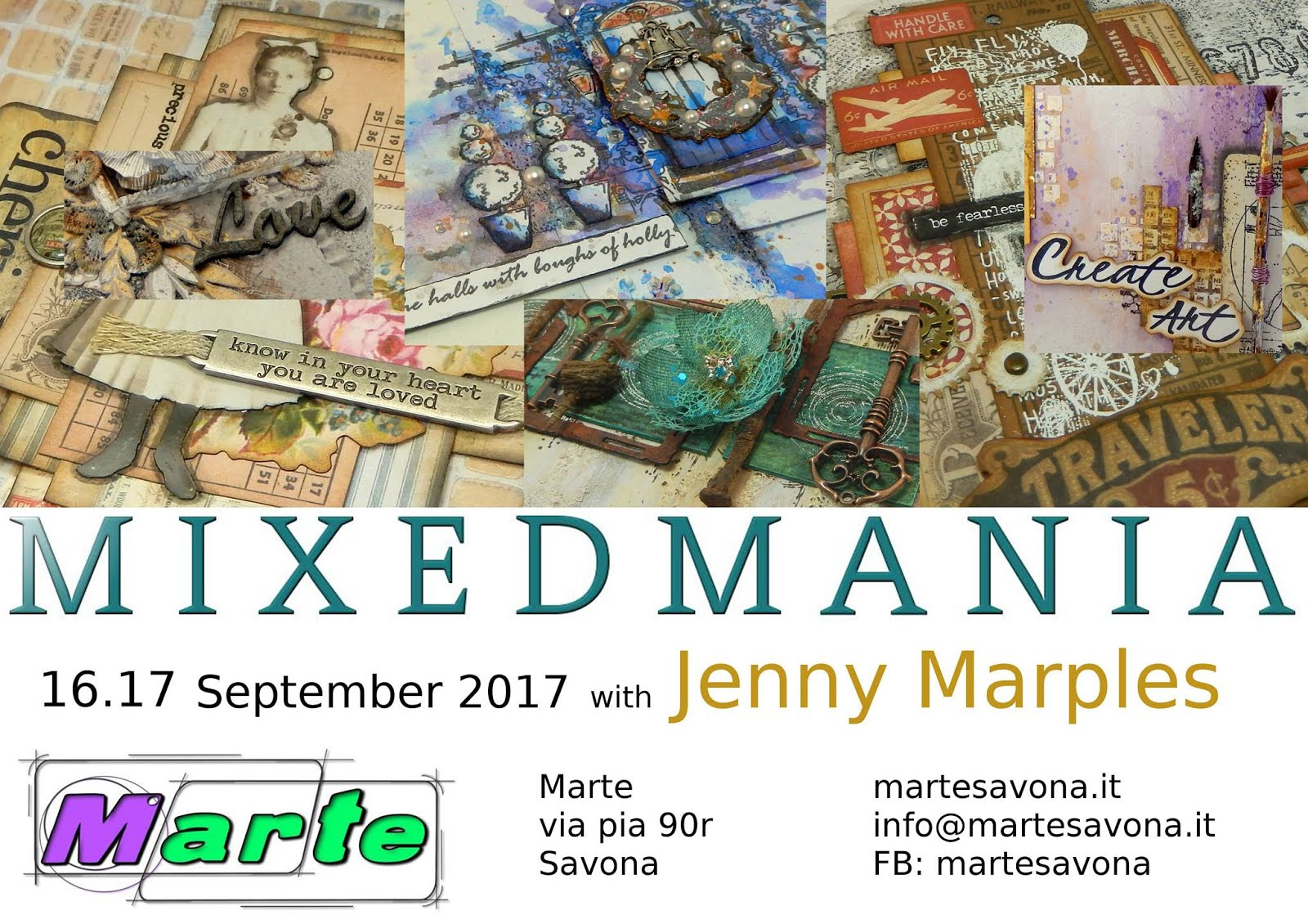 A Weekend of Mixed Media Workshops at Marte Savona, September 2017