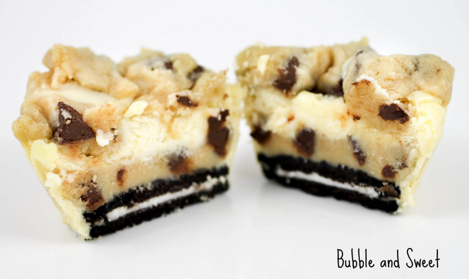 Bubble and Sweet: Chocolate Chip cookie dough cheesecakes