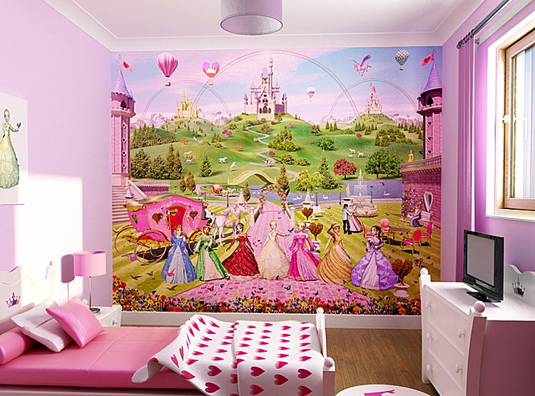 Kids bedroom wallpaper - Kids bedroom photo ...