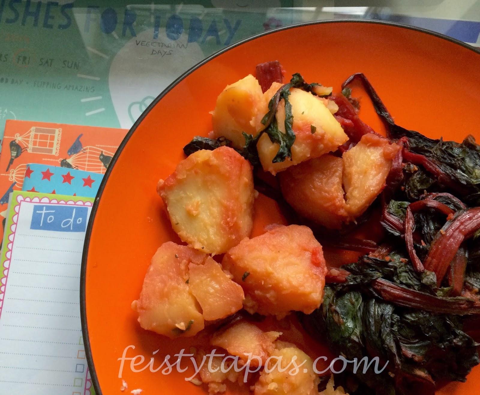 Thermomix Paprika Chard and Potatoes