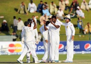 Pakistan vs Sri Lanka 1st test 2013 Scorecard, Pakistan vs Sri Lanka match result,