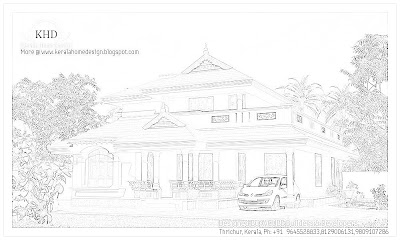 204 Square meter (2200 SqFT.) Kerala Style House Architecture - October 2011