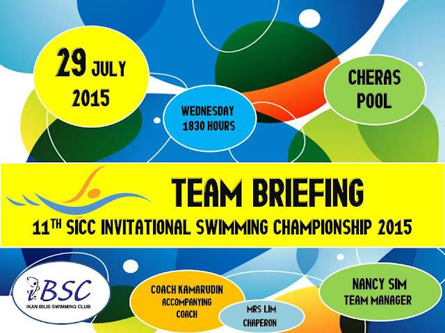 Ikan Bilis Swimming Club 1971 Kl Team Briefing For 11th Sicc Invitational Swimming