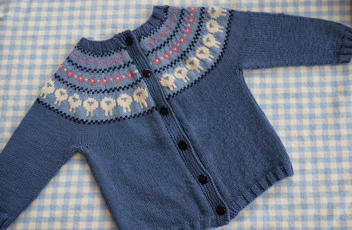 Donna Smith Designs: A steeked Circle of Lambs yoke cardigan
