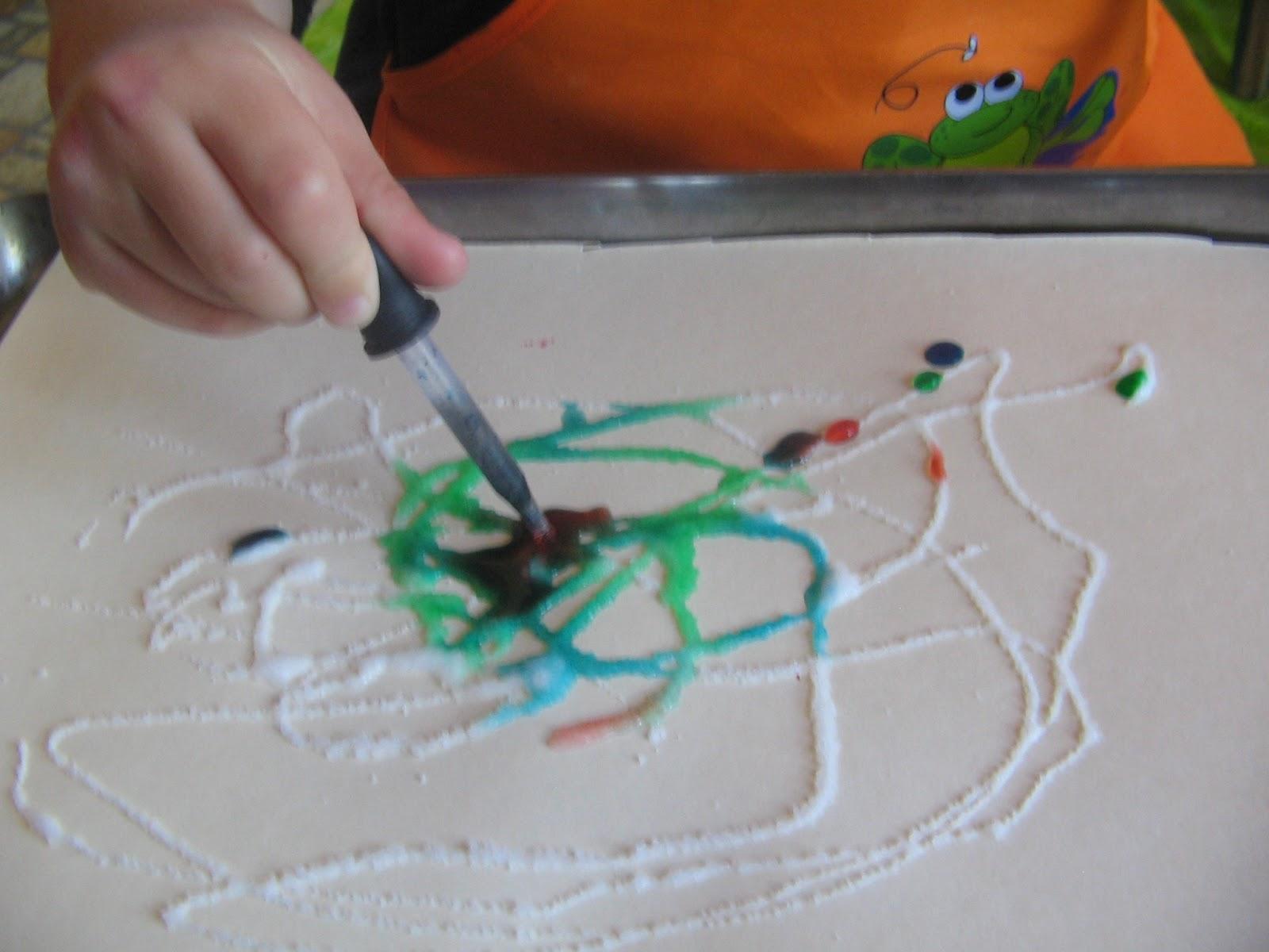 Art And Soul Preschool Salt Painting