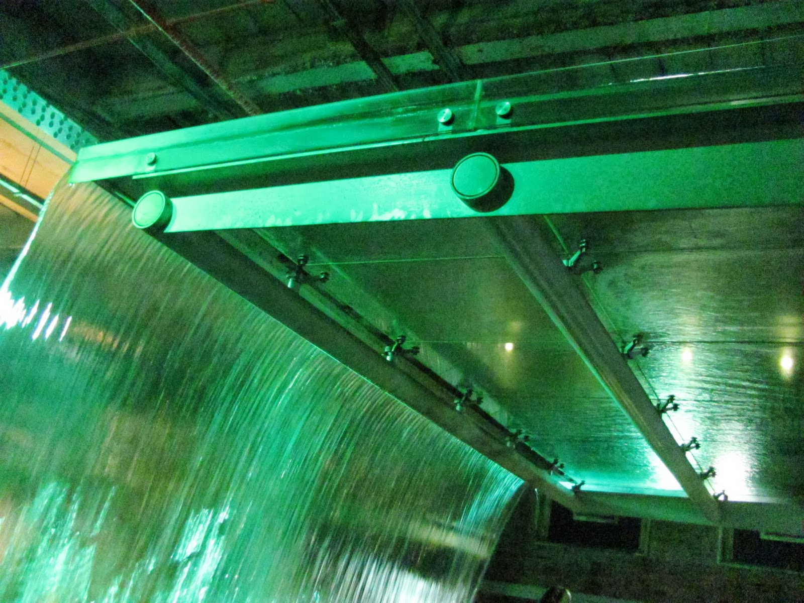 The tour goes under the fountain at the Guinness Storehouse, Dublin, Ireland