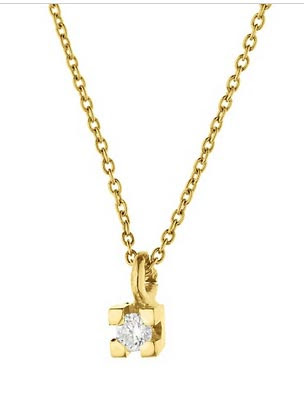 collar oro diamante