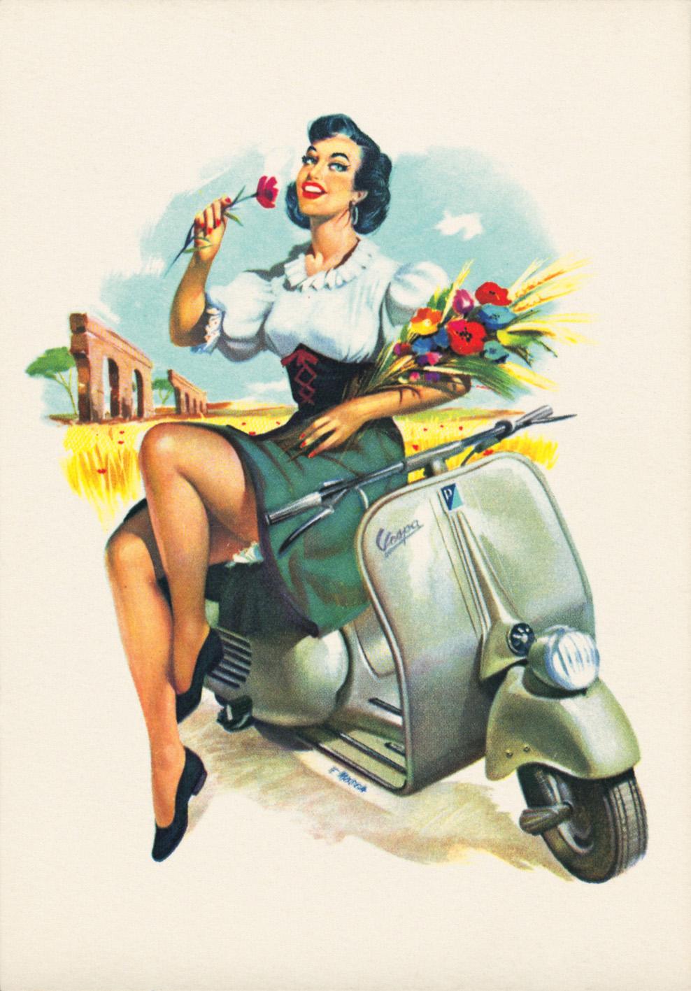 vespa vintage retro poster old