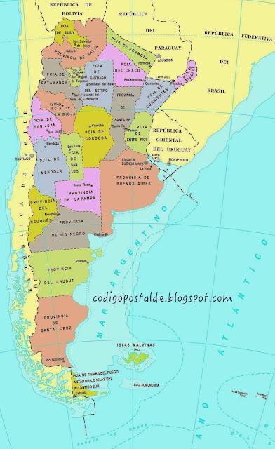 CODIGO POSTAL DE ARGENTINA - Como llamar a Argentina desde el extranjero - Postal Code