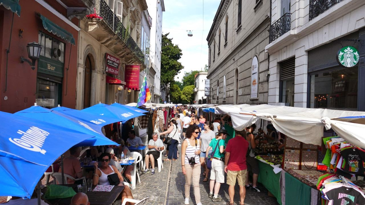 Buenos Aires zu Fuss erkunden - Flohmarkt