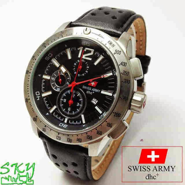 Swiss Army SA 2076 SS Original hitam