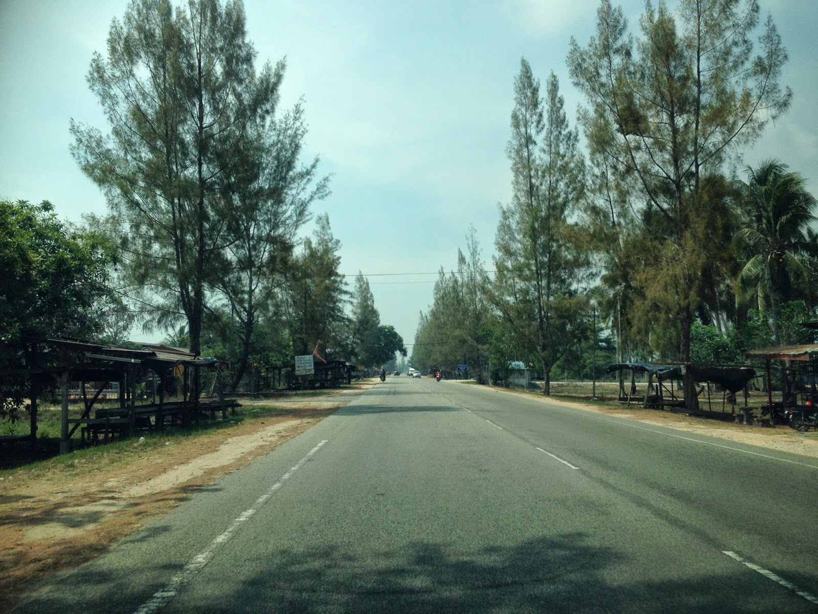 On the road to Pantai Bisikan Bayu