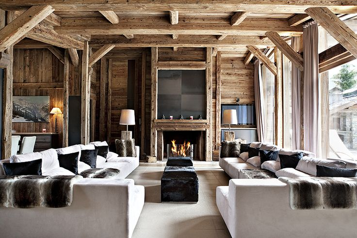 World of Architecture: 30 Rustic Chalet Interior Design Ideas