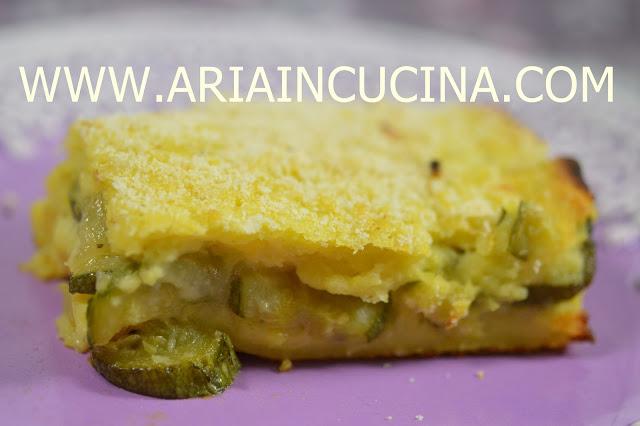 Blog di cucina di aria: tortino vegetariano di patate zucchine e