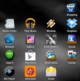 Create Android Folder - Finished product: Shopping