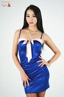 Seo You Jin Korean Sexy Model hot blue mini robe 1