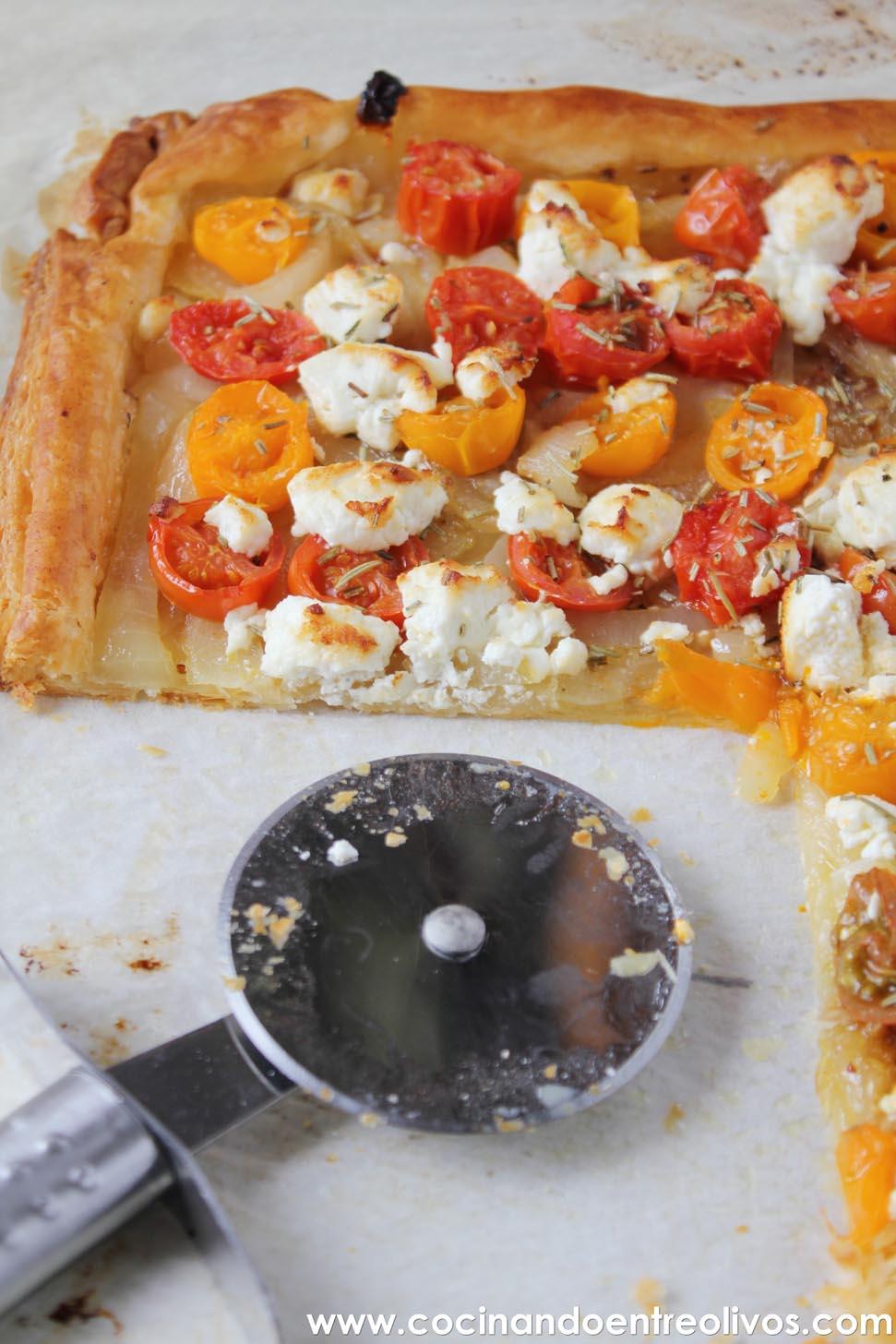 Cocinando entre olivos tarta de tomates cherrys y queso for Cocinando entre olivos