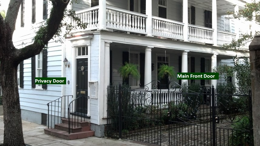 The driveabout palmetto trees saved charleston who knew for Charleston single house
