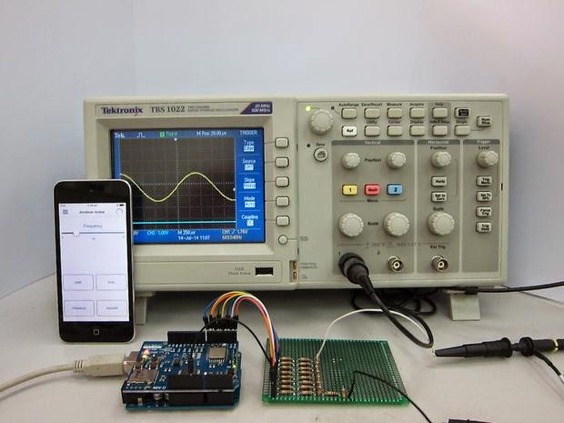 gerador de função com Arduino e iOS ou Android