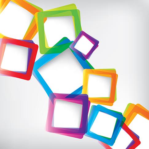 marcos modernos cuadrados - vector