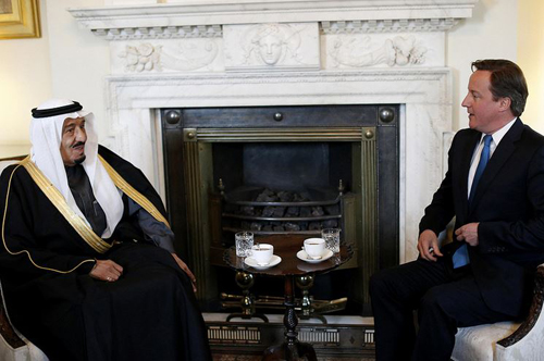 Prime Minister David Cameron (right) with Prince Salman bin Abdul Aziz. Photo by Number 10.