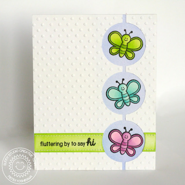 Sunny Studio Stamps Backyard Bugs Fluttering By To Say Hi Butterfly Card