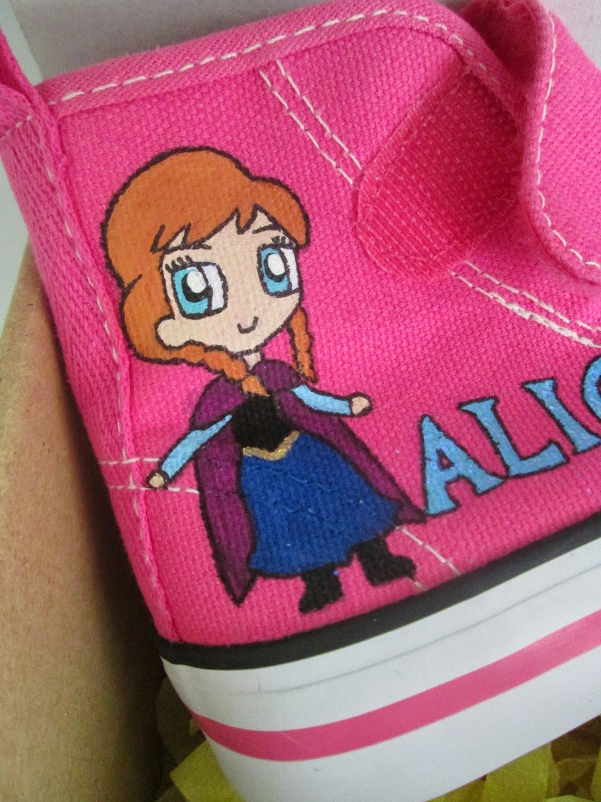 zapatillas pintadas frozen