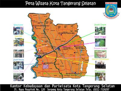 Peta Wisata Kota Tangerang Selatan